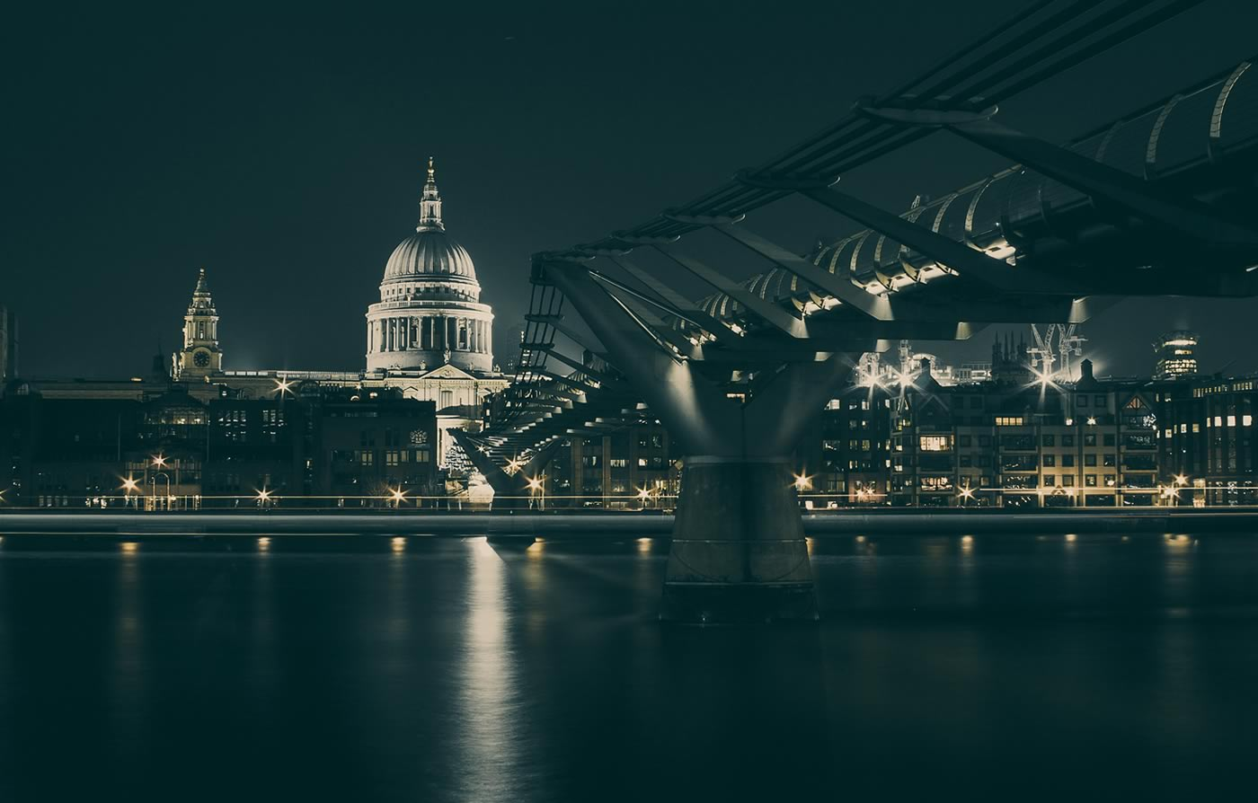 St Pauls Cathederal and bridge, London